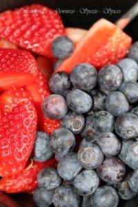 Erdbeeren und Blaubeeren